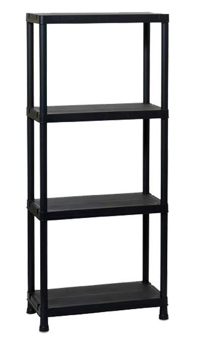 lo n plastov 4 policov reg l 60 x 30 x 138 cm. Black Bedroom Furniture Sets. Home Design Ideas