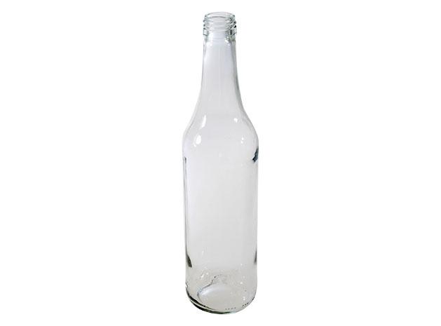 Skleněná láhev na slivovici 0,5 l, transparentní