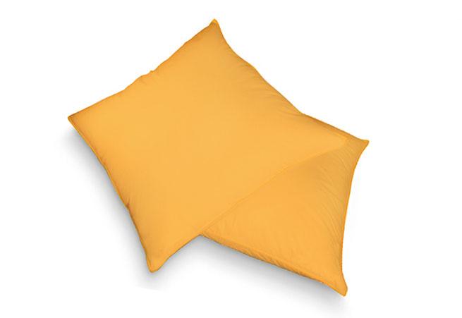 Froté povlak na polštář, žlutá 40 x 40cm