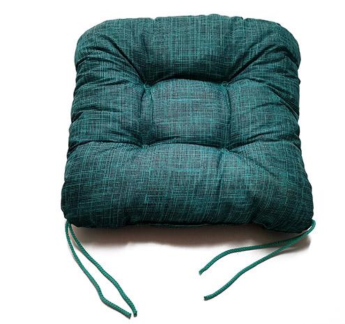 Podsedák na zahradní židle prošívaný 6931, 42 x 42 x 7 cm, tyrkysová