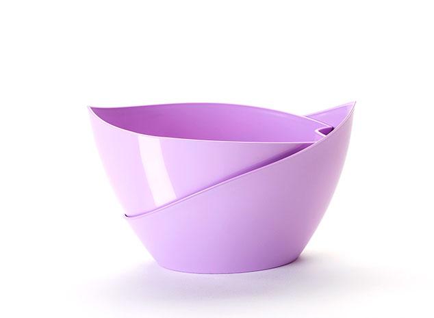 Samozavlažovací květináč Doppio - fialová