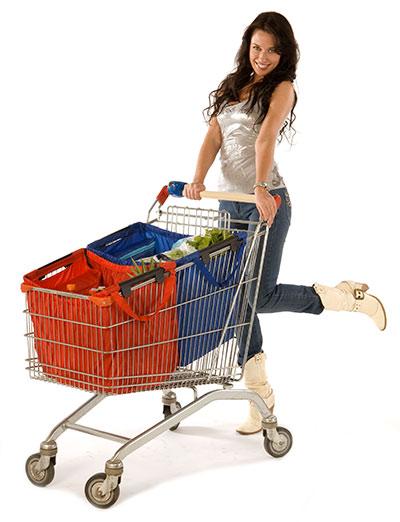 Taška do nákupního vozíku Basic 70 l, Aurora, červená