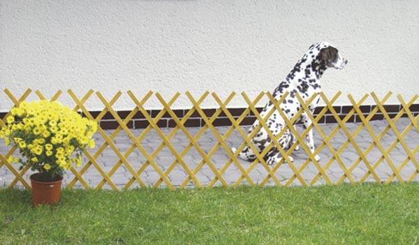 Dřevěná zahradní mřížka 3560 E, 455 x 52 cm, přírodní