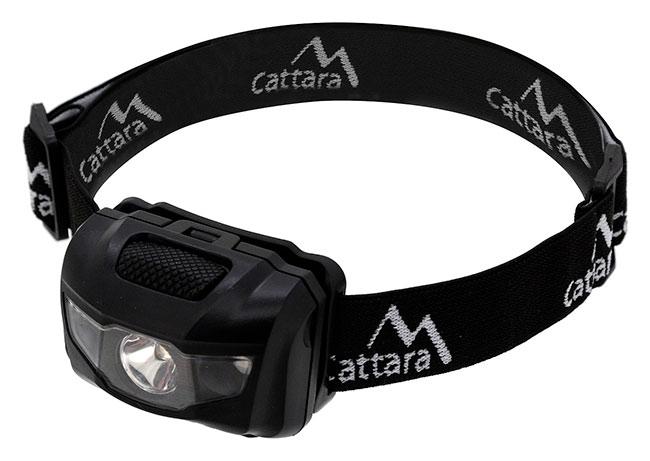 Čelovka LED 1W, 100 m i s červeným světlem Cattara