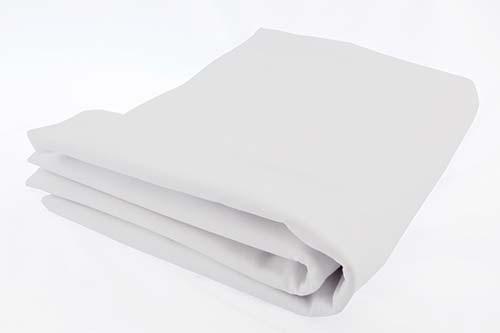 Prostěradlo bavlněné plátno 90 x 200 x 12 cm - bílá