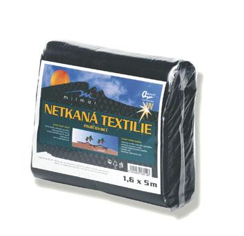 Netkaná mulčovací textilie, černá, 3,2 x 5 m
