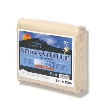 Netkaná textilie zesílená, béžová 30 g/m2, 1,6 x 10 m