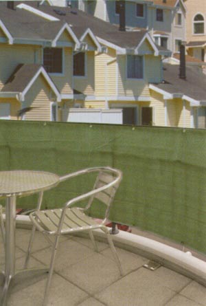 Zástěna na zábradlí na balkón 65 %