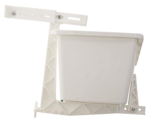 Držák na truhlíky na okenní parapet 2 ks bílá, Frajman