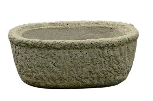 Žlab oválný - 40 x 31 x 16 cm, písková, Fortel