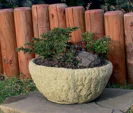 Žlab kruhový - betonový květináč průměr 31 x 14 cm, Fortel