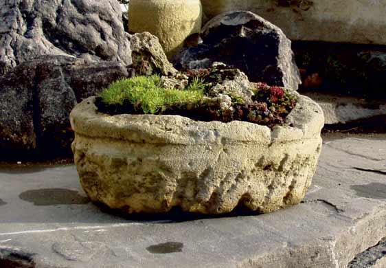 Zahradní nádoby -  betonová mísa Antik