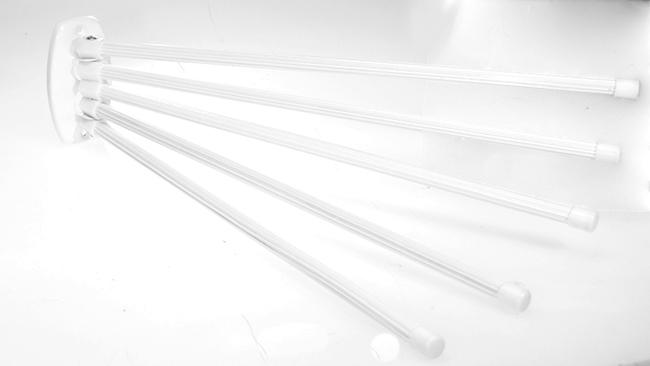 Věšák na ručníky pětiramenný, bílá