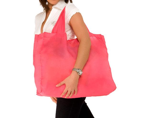 Skládací nákupní taška Pelikán 37 x 29 x 10 cm, růžová