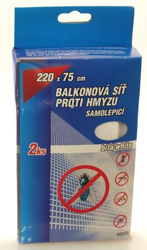 Balkónová síť proti hmyzu 2ks 220 x 75 cm