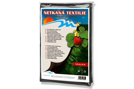 Netkaná textilie černobílá 1,6 x 5 m, 50 g/m2, Fortel