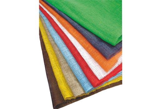 Dekorační jutová tkanina, žlutá