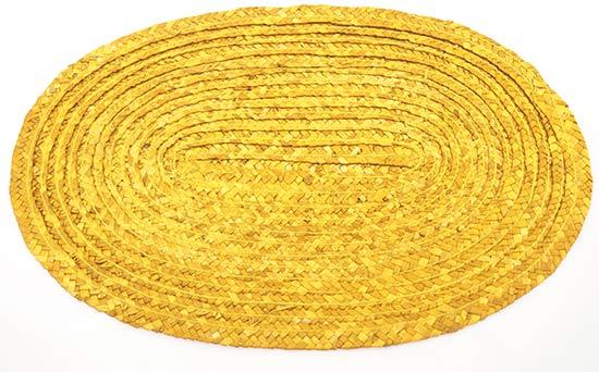 Prostírání z barvené slámy oválné, žluté