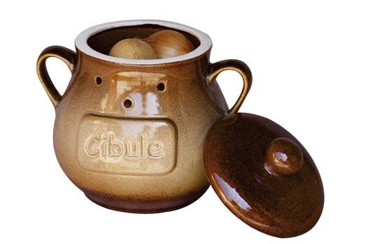 Keramické nádoby - nádoba na cibuli, v. 20 cm