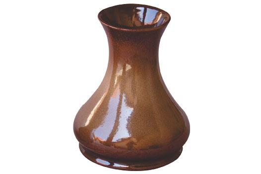Kameninová váza malá, hnědá