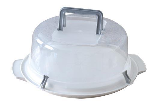 Plastový podnos na dort s poklopem 35 cm, Heidrun