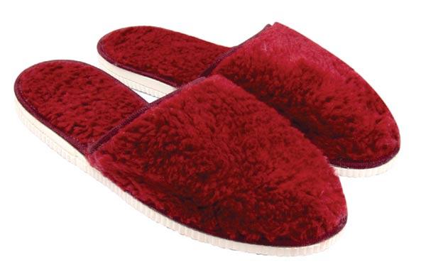 Dámské plyšové pantofle, vel. 38