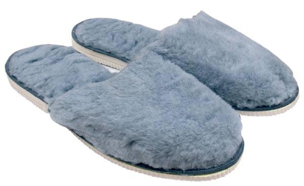 Domácí obuv - pánské plyšové pantofle, vel. 44 - 45