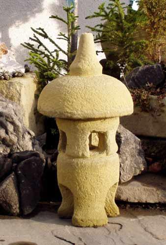 Zahradní Japonská lampa LI, umělý pískovec 42 cm
