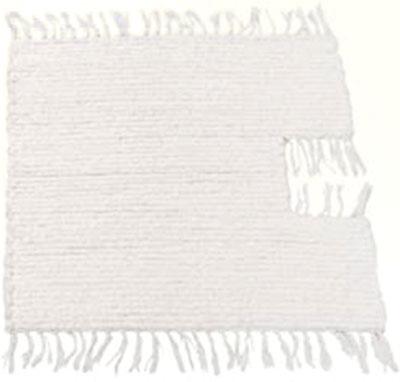 Ručně tkaná předložka 50 x 50 cm - na WC, světlá