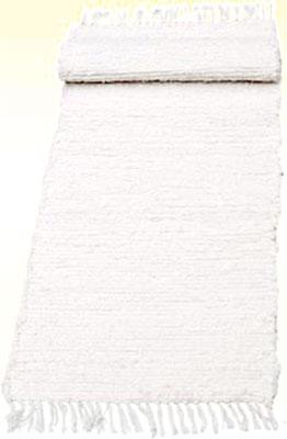 Ručně tkaná předložka 50 x 120 cm, bílá