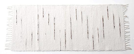 Ručně tkaná předložka 50 x 120 cm,  bílý melír