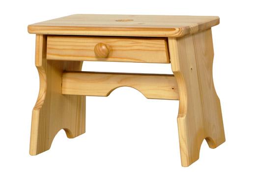 Stolička dřevěná se zásuvkou 39x24x29 cm, Fortel