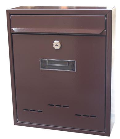 Poštovní schránka hnědá 26 x 31 cm