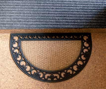 Venkovní rohožka před dveře půlkruh Gazele 45 x 75 cm