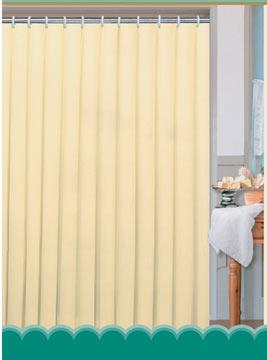 Textilní koupelnový závěs 180 x 180 cm, béžová