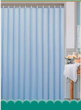 Textilní koupelnový závěs 180 x 180 cm, modrá