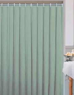 Textilní koupelnový závěs zelený, 180x180cm