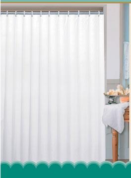 Textilní koupelnový závěs, bílá