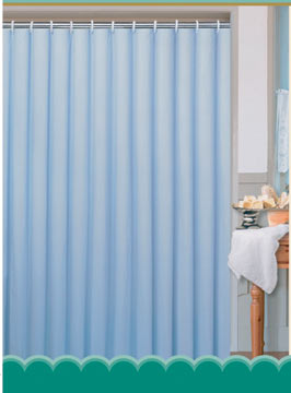 Textilní koupelnový závěs 180 x 200 cm, modrá