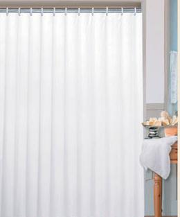 Koupelnový závěs PVC 180 x 200 cm, bílá