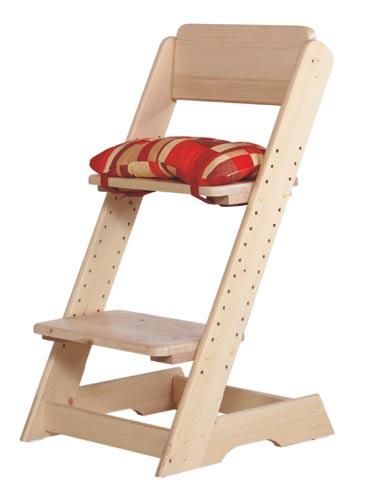 Dětská židle rostoucí Klára s poduškou