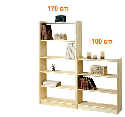 Knihovna masiv 100 x 80 cm