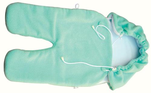 Zavinovačka do autosedačky fleece - zelená