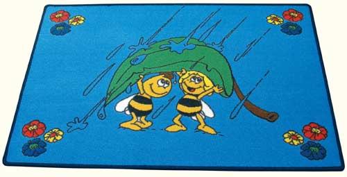 Dětský koberec Včelka Mája - Mája v dešti