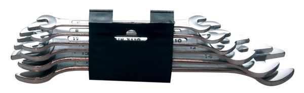 Klíče otevřené oboustranné 6 ks 6 - 17 mm