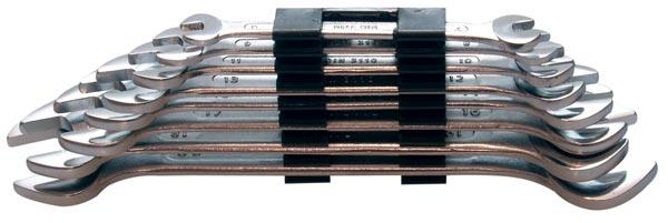 Klíče otevřené, oboustranné 8 ks 6 - 22 mm.