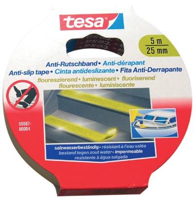 Páska protiskluzová fluorescenční 5 m x 25 mm.