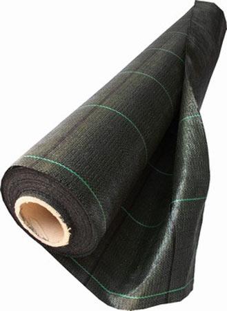 Tkaná PP textilie 1,5 x 25 m, černá.