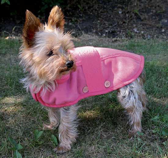 Růžová vesta pro psa LILLES,45 cm