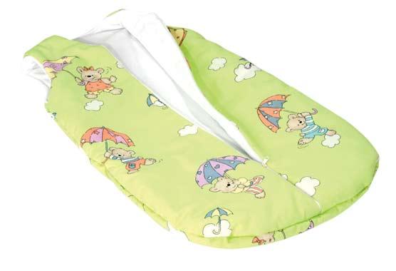 Dětský spací pytel D3012 Deštník 70 cm , zelená